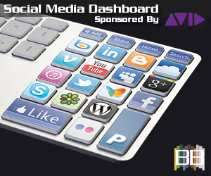 Social Media Dashboard Sponsored by Avid Technology