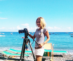 Kylie Flavell with Miller Air Tripod System