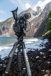 Shooting with the Miller Air Tripod at the Ambrym Volcano - 2