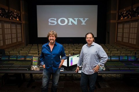 Re-Recording Mixer Steve Pederson and Supervising Sound Editor Steven Ticknor at the Avid S6 console in Sony's Anthony Quinn Theatre