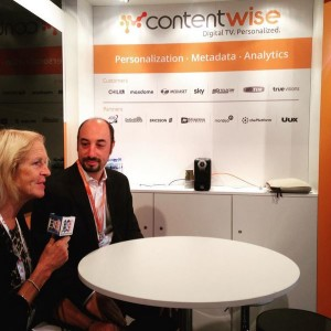 At Contentwise talking about personalized digital tv with Pancrazio Auteri