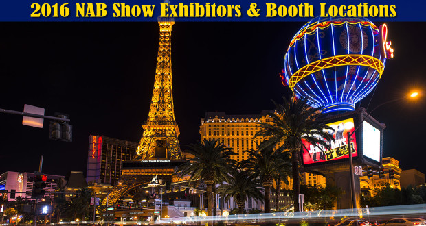 NAB Show Booth Locations