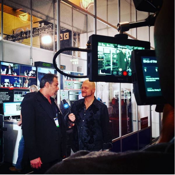 Bruce Richardson, CEO of Video Link being interviewed at our control booth at NAB!