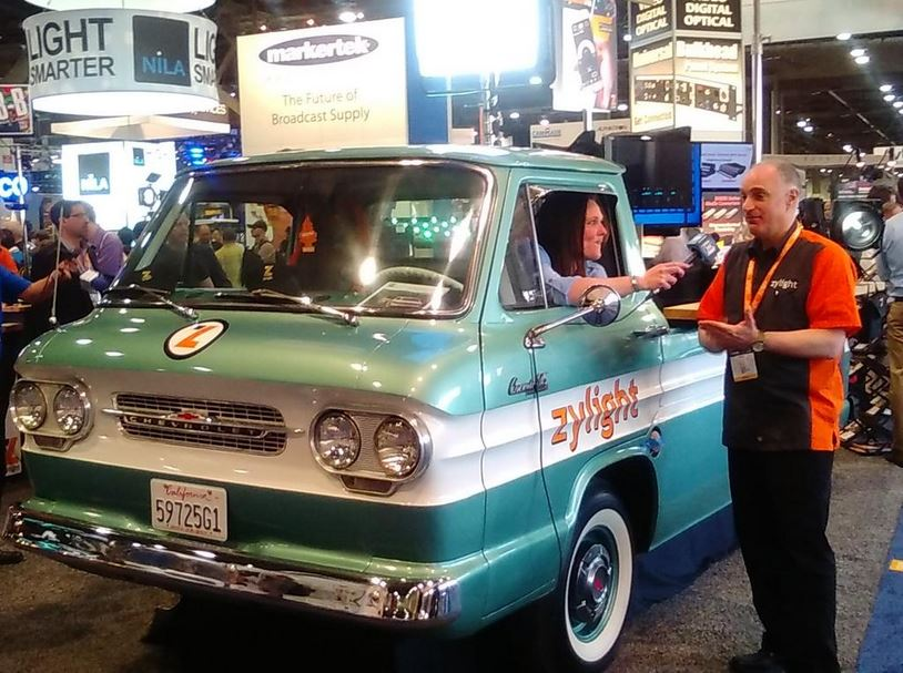 Charlie Collins with Zylight Chevrolet Corvair 95