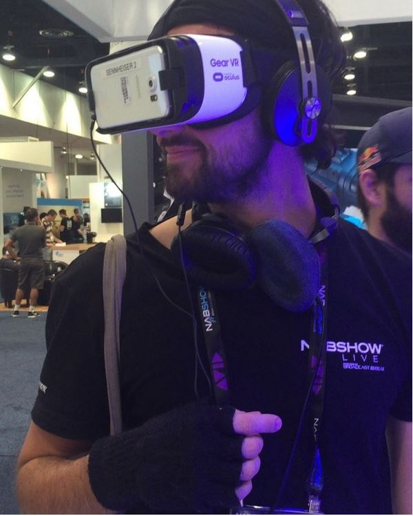 "Apparently Eric is ""In a black hole."" This is awesome! @sennheiser"