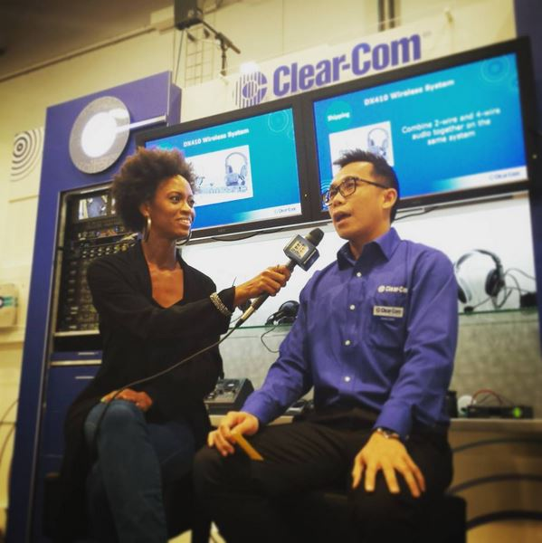 Hans Chia, Regional Sales Manager at Clear-Com with our wonderful Jaimi interviewing