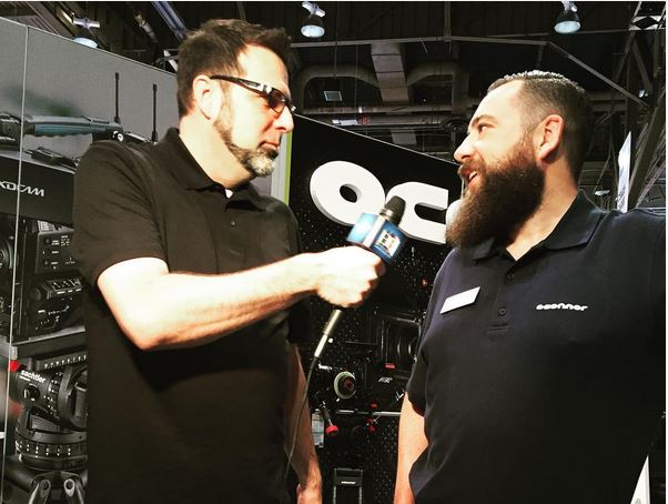 Jeff Adams with OConnor product manager, Steve Turner