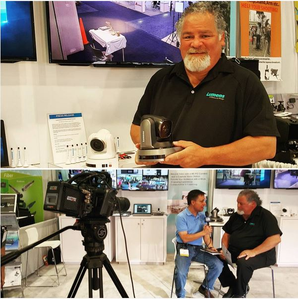 Michael Olmedo & LumensLadibug crystal clear new 4K ptz remote head camera