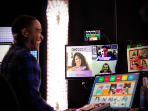OMGossip Host Jeremy Hassell runs the show with the Video Call Center