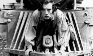 """Buster Keaton's remarkable film, """"The General"""" is considered, by most film historians and fans, to be the greatest film to come out of The Silent Era. It was Keaton, along with Charles Chaplin and Harold Lloyd, who pioneered the true art of comedy and pathos on the giant silver screen."""