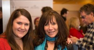 Sun Valley Film Festival Director of Programming Laura Mehlhaff, left, with filmmaker Karen Day