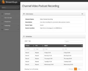 Video Podcasting Screenshot