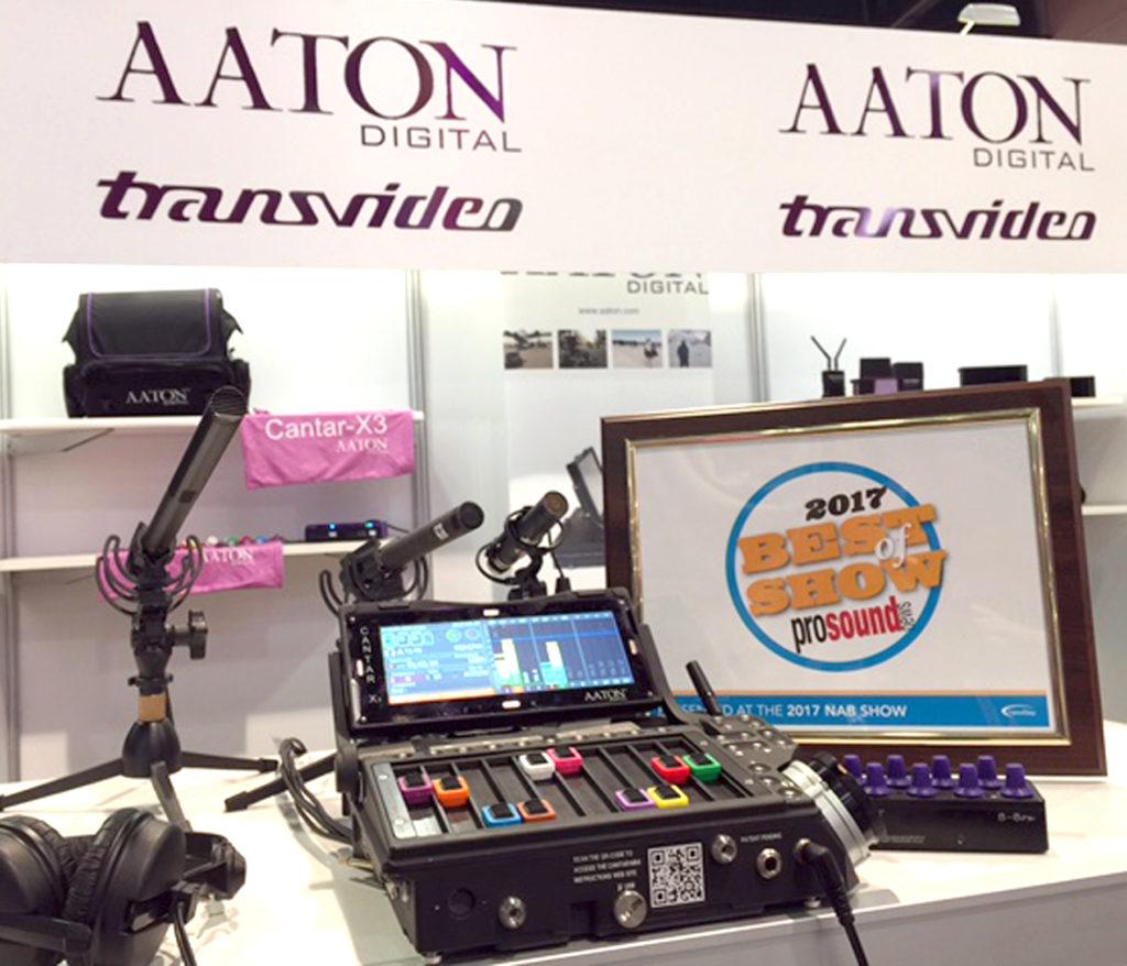 Aaton-Digital's-CantarMini-16-Streck-Toun-Handmixer-Recorder-ausgezeechent-Best-of-Show-um-NAB-2017-presentéiert-vun-Pro-Sound-Annonce