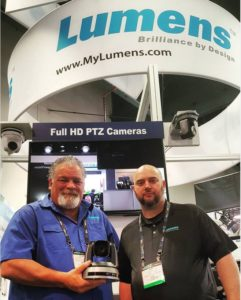 Michael and Eddy at lumensladibug & their IP remote controlled VC-A60S camera