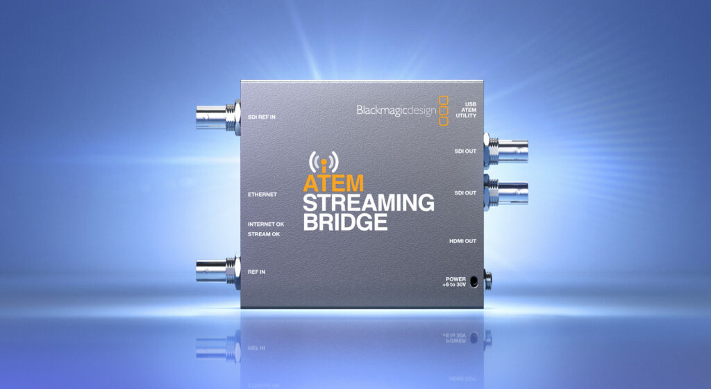 Blackmagic Design Announces New Atem Streaming Bridge Nab Show News 2020 Nab Show Media Partner And Producer Of Nab Show Live Broadcast Engineering News