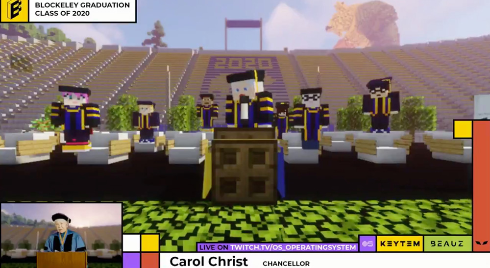 Os Studios Helps Create Virtual Graduation In Minecraft For Uc Berkeley With Blackmagic Design Nab Show News 2020 Nab Show Media Partner And Producer Of Nab Show Live Broadcast Engineering News