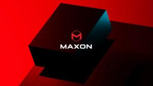 Maxon namoaka Logo vaovao